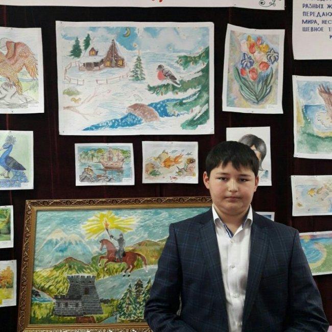 Выставка работ начинающего художника Сидакова Р.Р.
